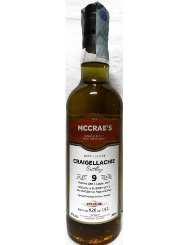 Whisky Craigellachie 9 anni Sherry Wood Mccrae