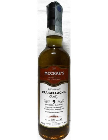 Whisky Craigellachie 9 anni Sherry Wood John Maccrae