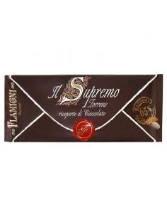Torrone Friabile alle Mandorle ricoperto al Cioccolato Fondente Il Supremo gr. 150 Flamigni
